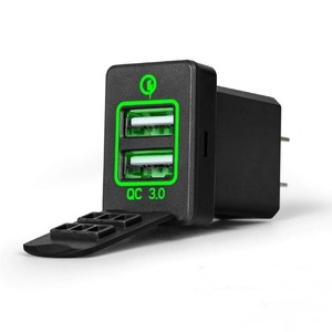 12 V-24 V podwójna ładowarka USB szybkie ładowanie 3.0 ładowarka dla toyoty. Camry Corolla RAV4 Reiz Cruiser