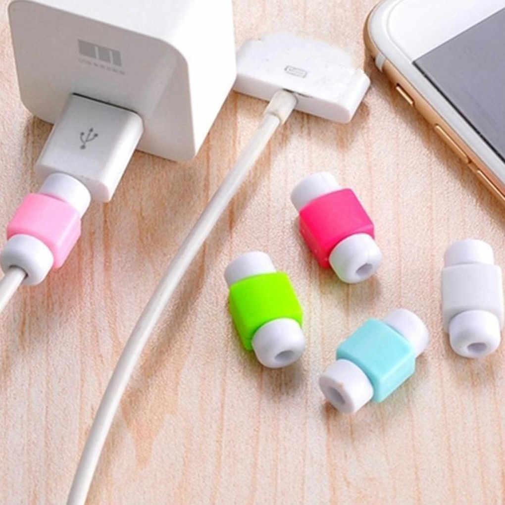 Милый протектор галстука-бабочки для iPhone usb зарядка данных сетевой шнур протектор защитный чехол кабель защитный чехол для кабеля 1 шт