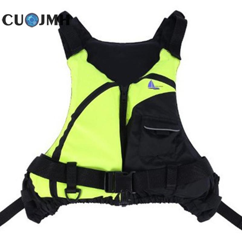 High Quality Outdoor Sport Life Jacket S-XL Water Sports Manwomen Jacket Polyester Adult Sea Fishing Life Vest Jacket ws715 autumn winter men s multi pocket polyester slim jacket deep blue yellow xl