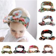 BABY Lovely Bowknot Elastic Head Bands for Baby Girls Headband for Children Tuban Baby Baby Accessories Floral Hair Headband cheap KAVKAS Chiffon Unisex Headbands 0-1M