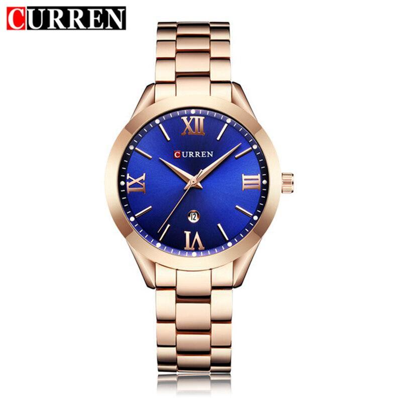 Curren Women Watches Top Brand Luxury Stainless Steel Quartz Watch Relogio Feminino 2018 Fashion Elegance Watch For Women Gifts