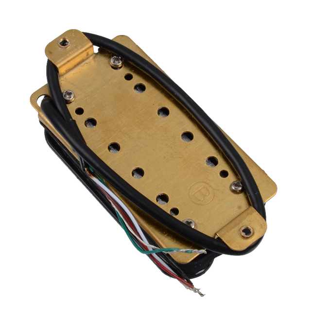 Electric Guitar Humbucker Dual Coill Dual Rail Guitar Pickup with 57mm Steel Pole Ivory Black Chrome