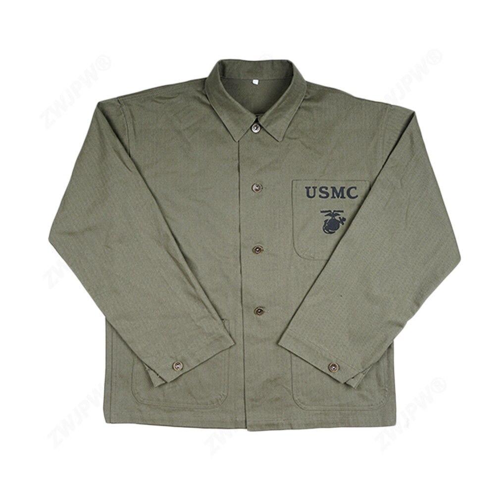 WW2 WWII US USMC HBT ejército verde campo abrigo chaqueta OUTWEAR militar-in Chaquetas de ejercicio y entrenamiento from Deportes y entretenimiento on AliExpress - 11.11_Double 11_Singles' Day 1