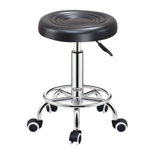 Barber-Chair Furniture Salon Tattoo Hydraulic-Rolling-Stand Adjustable Cafe Face-Massage