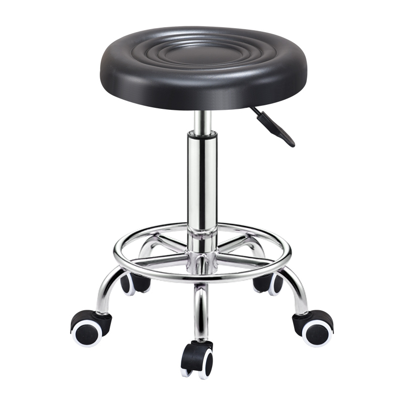 Adjustable Barber Chair Hydraulic Rolling Stand Chair Salon Hot Spring Bar Cafe Tattoo Face Massage Salon Furniture
