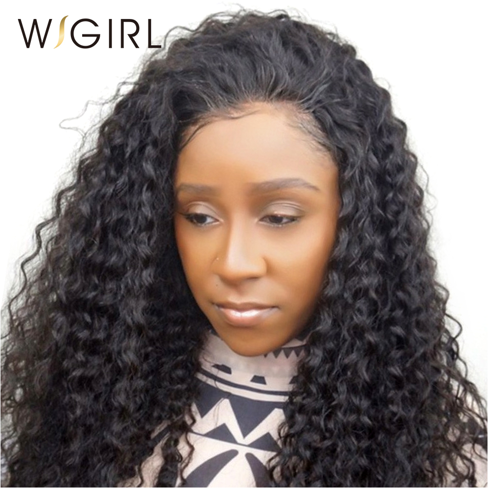 Human Hair Lace Wigs Wigirl Hair 200% Density 360 Lace Wig Pre Plucked With Baby Hair Curly Lace Front Human Hair Wigs For Black Women Hair Extensions & Wigs