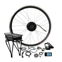 36V 250W/350W/500W Kettle Battery Ebike Kits Electric Bike Conversion Kit With LED Display LCD Optional