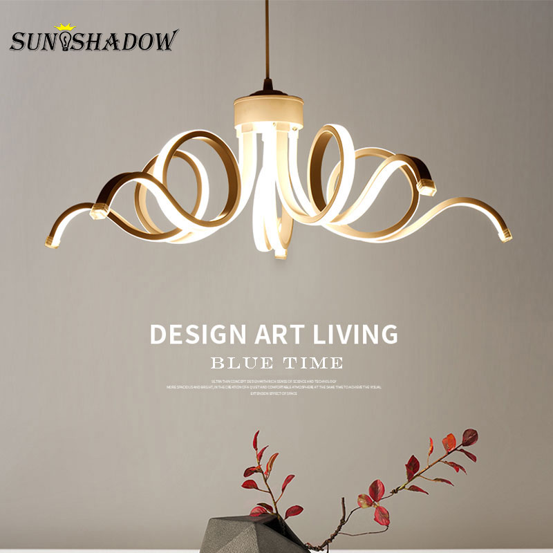 Modern LED Chandelier White Light LED Ceiling Chandelier Light Fixture For Living room Bedroom Dining room