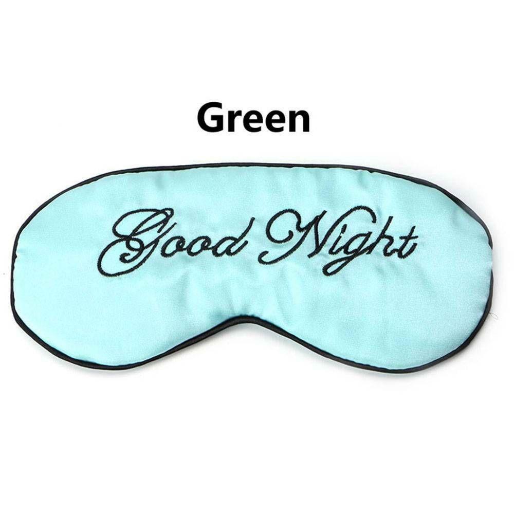 1 шт. мягкая маска для сна Расслабляющая помощь для путешествий с повязкой на глаза мягкая маска для сна тенты инструменты для ухода за глазами - Цвет: green