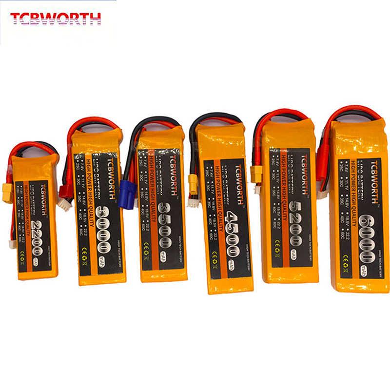 3S juguete RC LiPo batería de 11,1 V 1200mAh 2800mAh 3800mAh 4200mAh 4500mAh 5200mAh 25C 35C 60C 3S de Dron aeroplano RC helicóptero, Coche