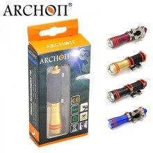 Lampe de plongée ARCHON, Mini Lampe torche imperméable 75 lumens, Lampe lanterne pour la pêche sous marine (D1A, W1A XP E R3 LED)
