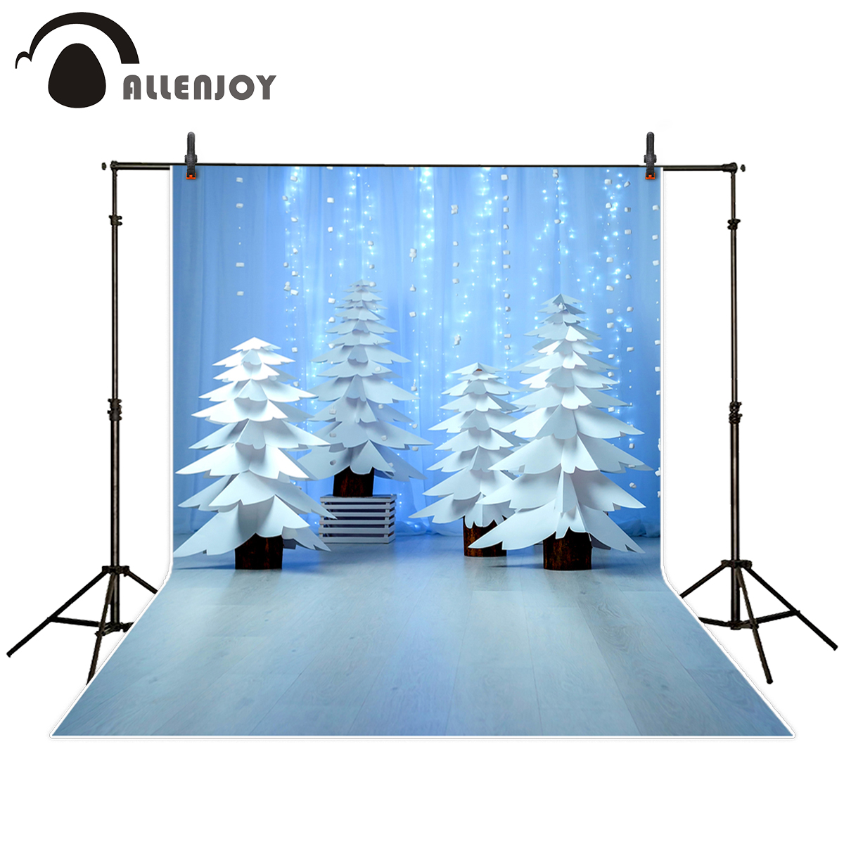 Allenjoy photography background winter tree Christmas glitter wedding backdrop photo prop photo studio photocall customize allenjoy photography backdrop flower door wedding children painting colorful background photo studio photocall photo shoot