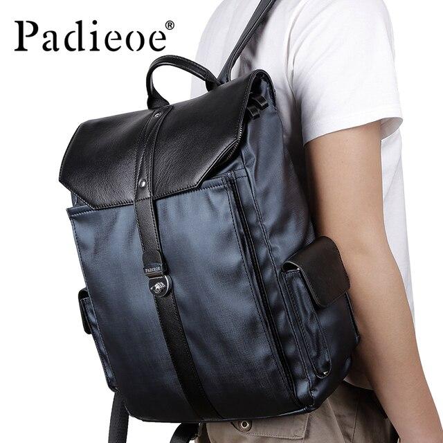 Padieoe fashional casual hombres mochilas alta calidad de lona hombres  mochila portátil 8cdb344c6fa2