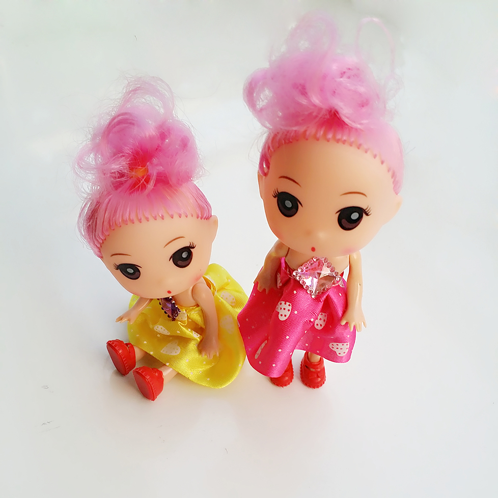 2PCS Baby Doll House toy play dolls closet wardr Elegant fashion girl doll some kinds of beautiful lovely doll 12cm color random