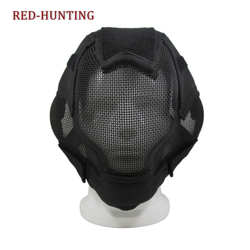 Tactical Mask Military Full Face Metal Mesh Mask Multi Color For Hunting Shooting