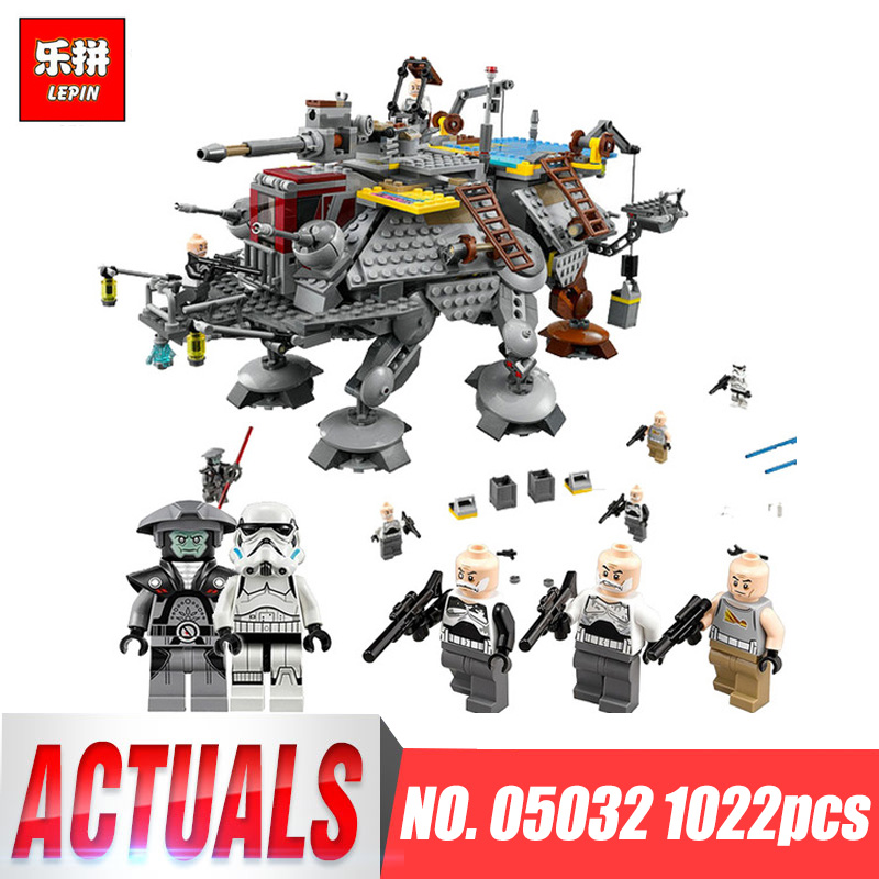 LEPIN 05032 force Star Captain Rex's AT-TE Building Blocks Compatible with legoINGlys 75157 Wars Boys Toys Gift Birthday gifts lepin 1022pcs star series wars captain rex s at te building blocks brick lepin 05032 boys toys gift compatible legoingly 75157