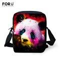 3D bonito Panda Animais Coruja Impressão Messenger Bags para As Mulheres Mini Cão Gato Bolsa de Ombro Ocasional Senhora Meninas Crossbody Bag alta