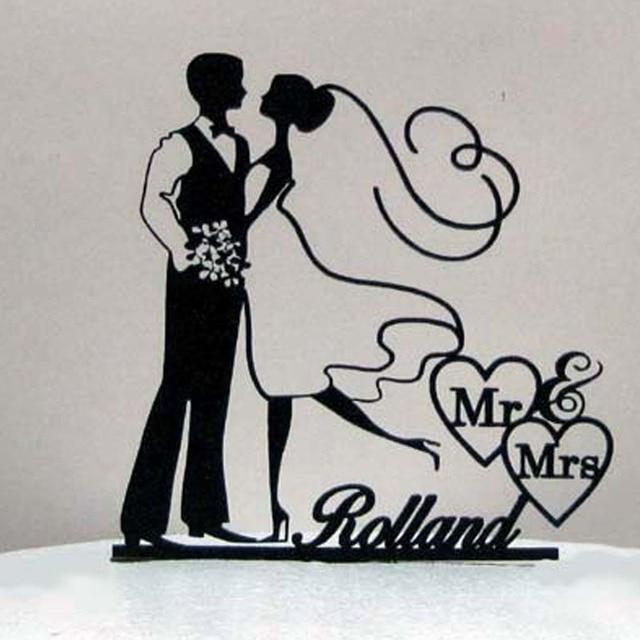 Aliexpress buy rustic acrylic cake topper wedding bride and rustic acrylic cake topper wedding bride and groom mr and mrs wedding cake toppers for weddings junglespirit Images