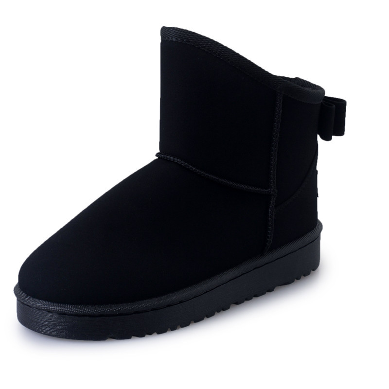 2018 Women winter fashion solid snow boots female ankle boots with fur warm boot woman casual shoes botas femininas butterfuly