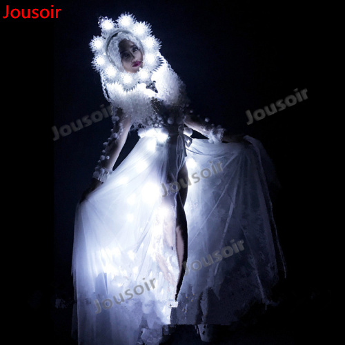 New Led Light Up Sexy Lady Party Dress DS Clothing Led Luminous Performance Dance Suit DJ Singer Cosplay CD15 T02