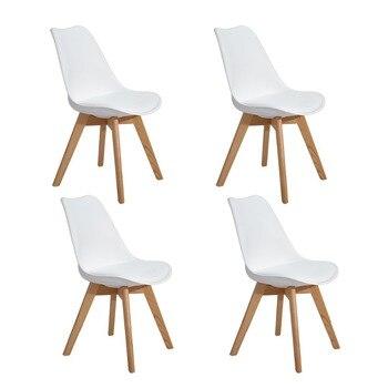 Eggree Set Von 4 Esszimmer Buro Stuhl Mit Massivholz Buche Beine