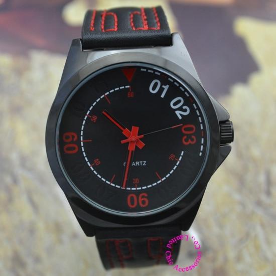 fashion luxury wholesale buyer low price good quality man black dial red stitch japan quartz wristwatch wrist watch hour de buyer ковш аффинити 1 8 л 16 см 3706 16 00023455 de buyer