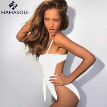 541b7787a4f HAHASOLE One-Piece Swimsuit Push Up Solid Sling Backless Swimming Suit For  Women. US  14.84   Set Free Shipping