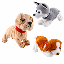 Звуковое управление электронные собаки интерактивные электронные домашние животные робот собака лай стенд прогулки электронные игрушки собака для детей детские подарки интерактивные игрушки двигающаяся игрушка