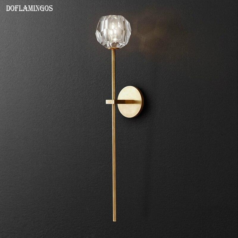 Золотой/черный кроме лампы настенный светильник кристалл гостиная бра Золотой свечи бра романтическая бра спальня огни ...