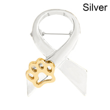 New Fashion Dog Paw Print Pins Brooch Pin Up Gold Silver 2 Color For Women Suit Hats Clips Dog Lovers Gifts