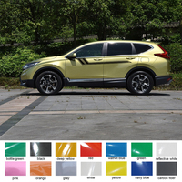 2pc cool racing quadrilateral stripes styling Car accessories stickers side door stripe graphic vinyl car decals for honda cr v