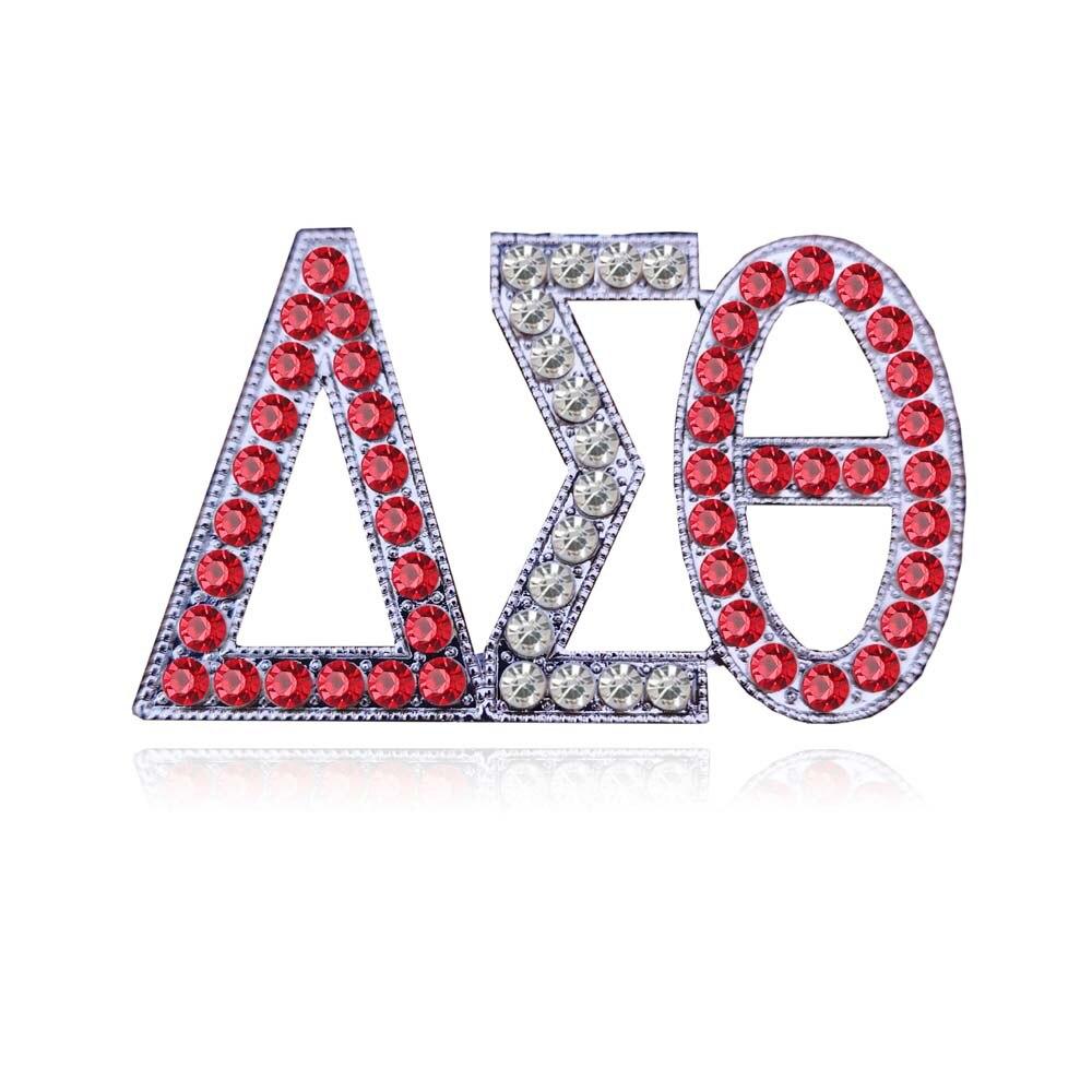 10pcs Free shipping New Sorority Big Size Dst Greek letters pearl Newest Delta Sigma Theta Brooch
