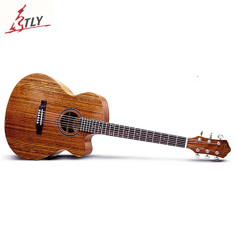 SAYSN 40 Cutaway Acoustic Folk Guitar Germany Steel Strings Rosewood Fingerboard Mahogany Guitarra for Beginner Students Novice 30 34 36 inch novice guitar beginner folk guitar six chord little guitar