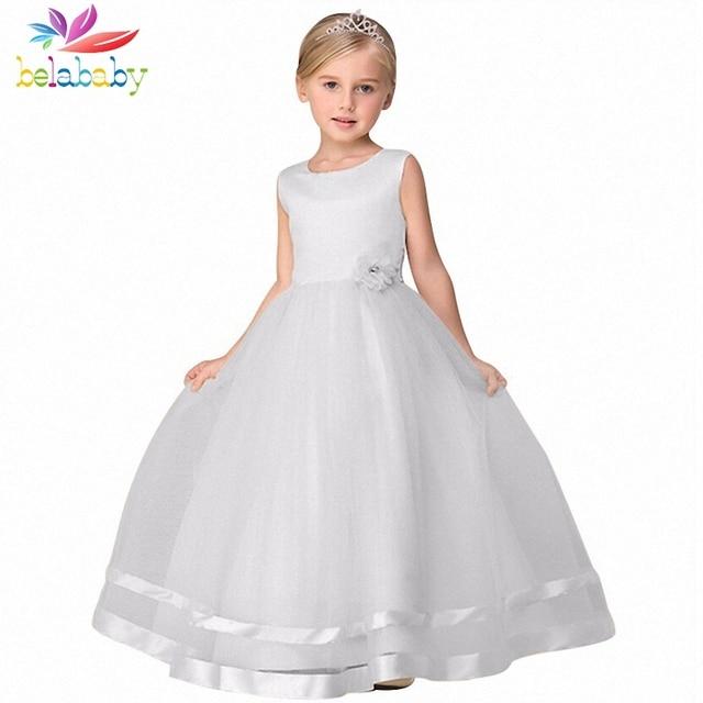 f36304fe356df Belababy フラワーガールドレス 2019 夏のプリンセスドレス子供服のウェディングドレス女の子子供