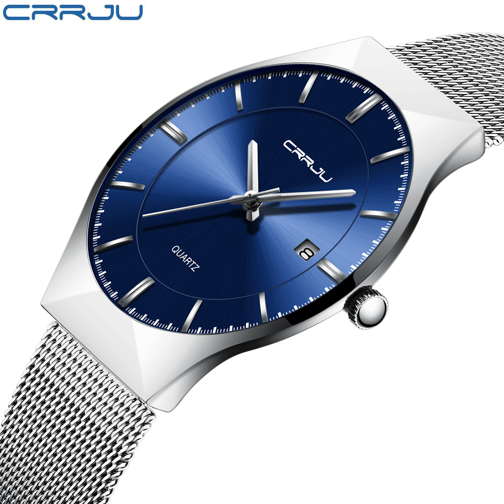 CRRJU Wrist Watch Men 2018 Top Brand Luxury Famous Wristwatch Male Clock Quartz Watch Hodinky Quartz-watch Relogio Masculino