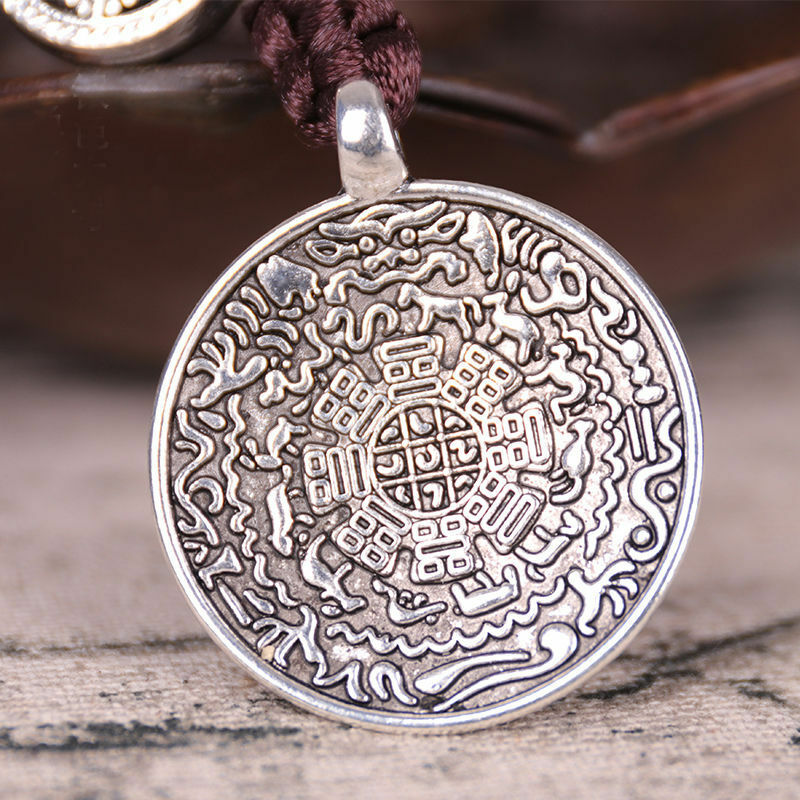 Chinese Tibetan Tibet Buddhist Sidpaho 12 Zodiac Vajra Dorje Endless Knot Amulet Pendant Safe And Good Luck Feng Shui Statue
