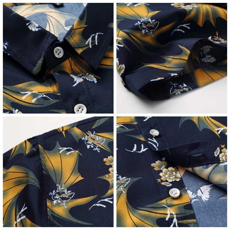 JZ главный печатных мужские рубашки в цветах короткий рукав Гавайский Пляжные рубашки Повседневное зауженные официальные Пляжная футболка на пуговицах
