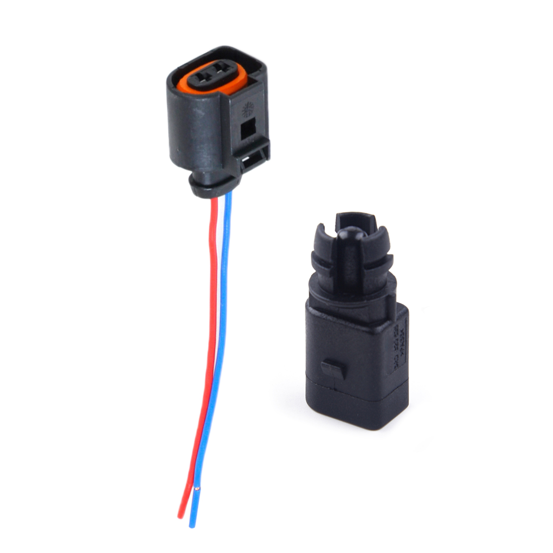 DWCX 2 Pin Ambient air temperature sensor & Electrical 2 Pin Connector Plug Wiring Harness 6RD820535 1J0973775A Fit for Audi VW