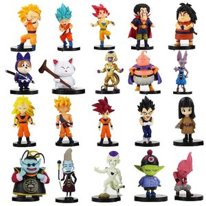 20pcs/lot Dragon Ball Z Figure Goku Vegeta Super Saiyan God Hercule Frieza Boo Beerus Whi DBZ Mini PVC Model Toys Dolls(China)
