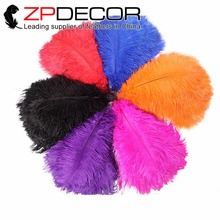ZPDECOR 50 pcs/lot 40-45cm(16-18inch)Hand Select Sexy and Smooth Cream Party Ostrich Feathers for Wedding Decoration