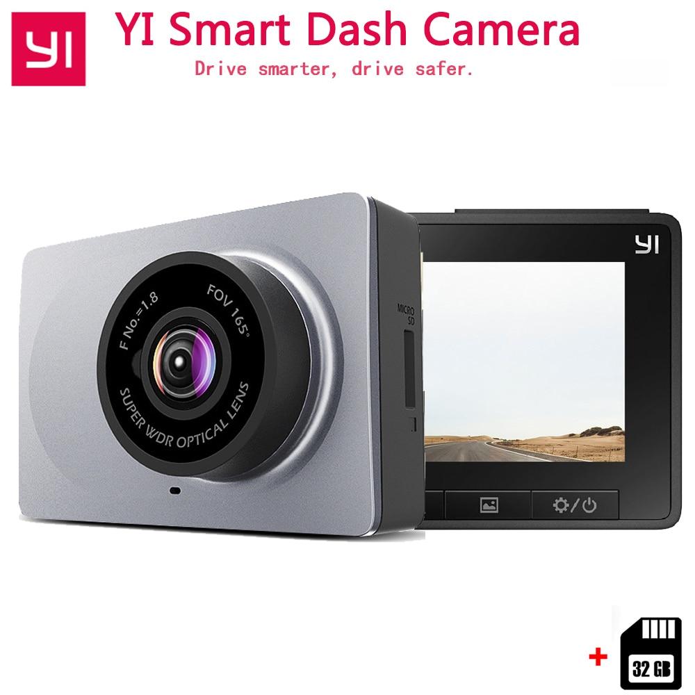 Xiaomi YI Smart DashCamera International Version WiFi Night Vision HD 1080P 2.7 165 degree 60fps ADAS Safe Reminder Dashcam