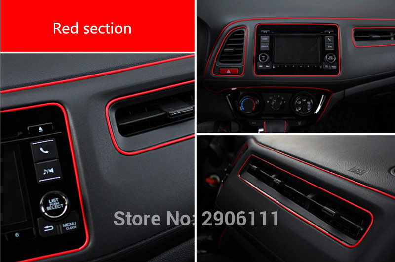 5M Car Styling Internal Decoration Moulding Trim Strips Line for Cadillac srx cts ats escalade key emblem sts dts bls Stickers