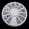 Lrregular Gotas de Diamante transparente Bowknot Rhinestone Crystal Nail Art Decal Consejos Glitters Pegatinas Para Uñas Decoración