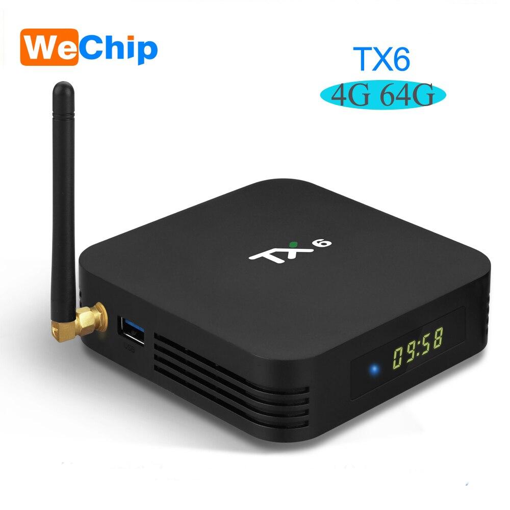 TX6 TV Box android 9 Allwinner H6 4 GB DDR3 32 GB/64 GB EMMC 2.4 GHz 5 GHz WiFi BT4.1 Support 4 K H.265 décodeur lecteur Youtube