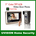 """Home Security 7"""" Extra Slim LCD Touch key Monitor Color Camera Kit Video Door Bell Phone Intercom System Multy Melody"""