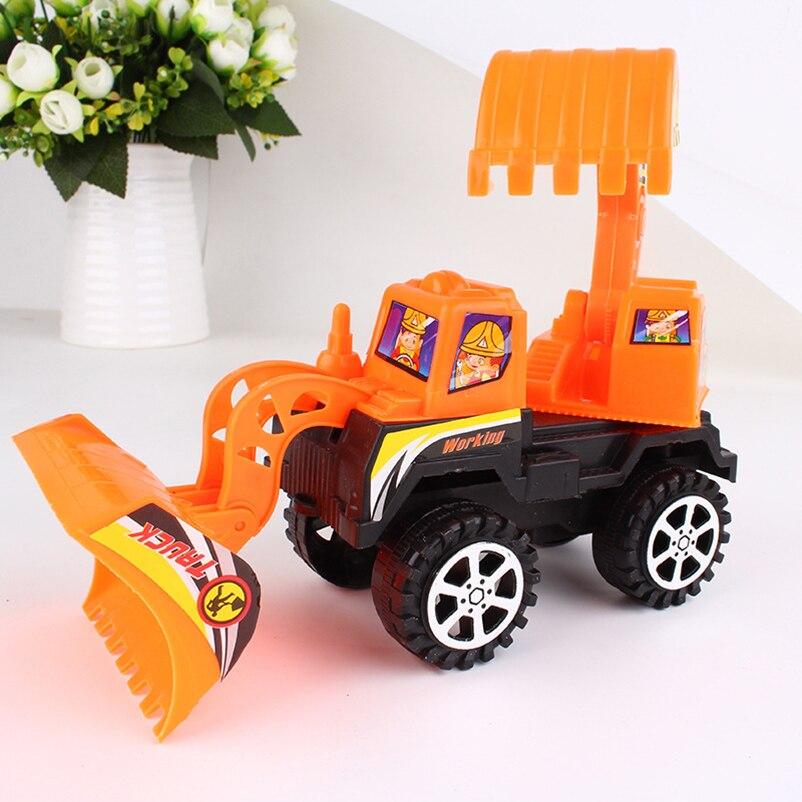 Mini veículos diecasts brinquedo de plástico modelo de caminhão escavadeira carro engenharia trator clássico brinquedo de presente para as crianças