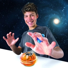 Mini Magnetic Balls Luminous Toys for Children Electronic Led Magic Ball Magnetic Controlled Finger Induction with Power Ring