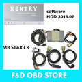 Xentry Diagnosis Mb Star C3 with High Quality 5 Cable With Software HDD 2015/07 DHL Free  For BENZ Cars Hot selling! In stock!