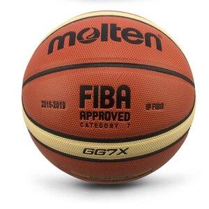 Image 2 - Groothandel Of Retail Nieuwe Merk Hoge Kwaliteit Basketball Ball Pu Materia Officiële Size7/6/5 Basketbal Gratis Met Net Bag + Naald