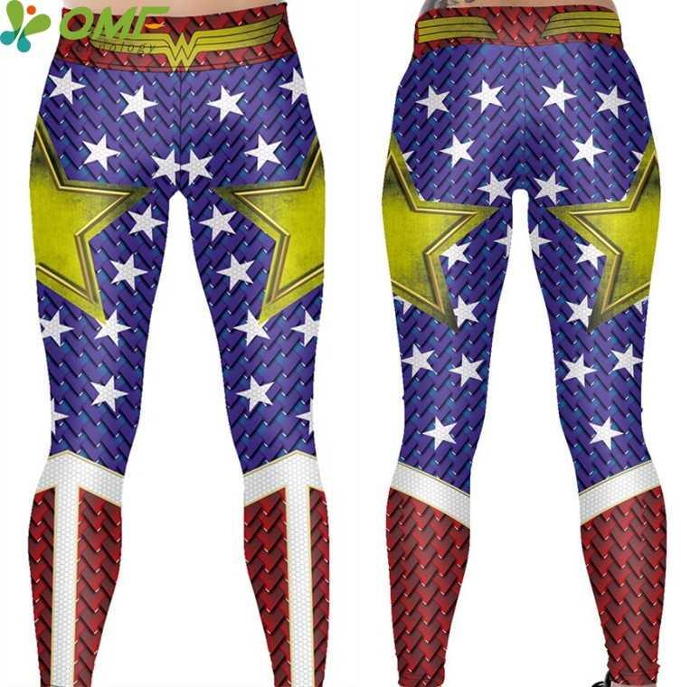47530c93e55f0d ... Batman V Superman Power Flex Yoga Pants Batman Wonder Woman Running  Tights Justice League Sport Trousers ...